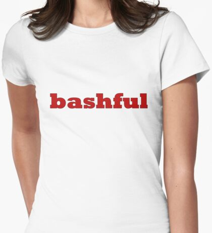 bashful Womens Fitted T-Shirt