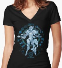 PROJECT M - Blue Print Edition Women's Fitted V-Neck T-Shirt