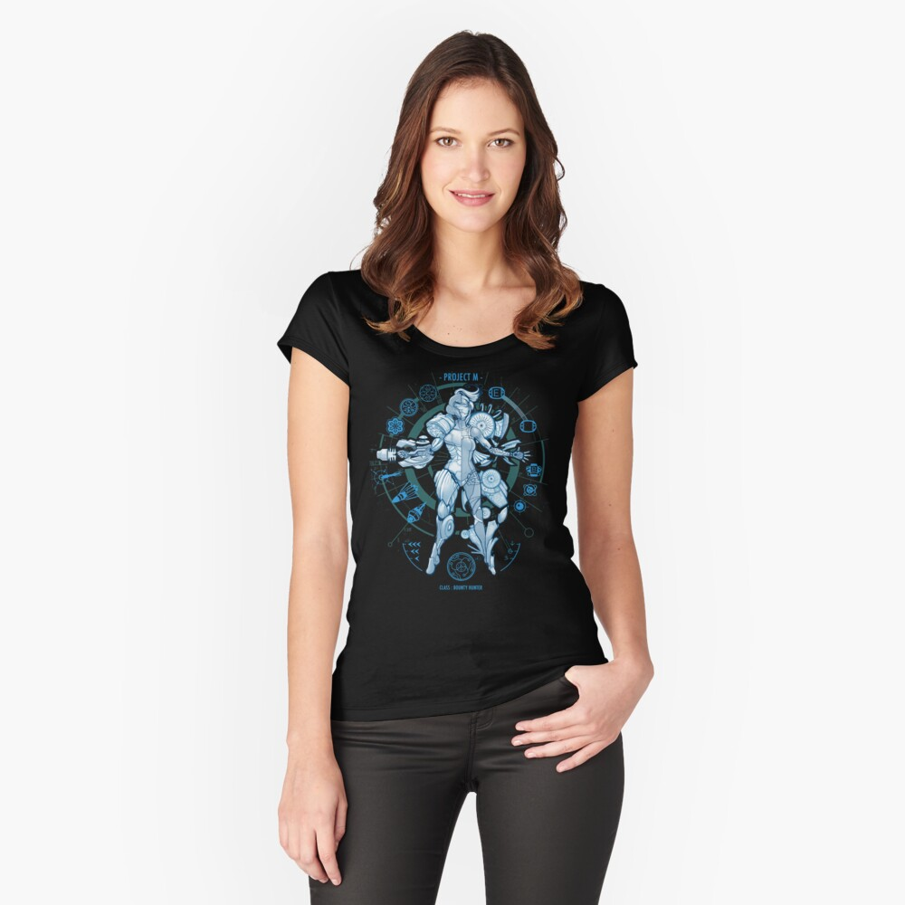 PROJECT M - Blue Print Edition Women's Fitted Scoop T-Shirt Front