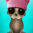 Netter Baby-Seelöwe-tragender Pussy-Hut von jeff bartels
