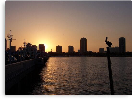 Sunset at St. Pete Pier by Brian Willocks
