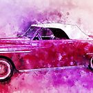 49 Dodge Wayfarer Roadster Watercolour by ChasSinklier