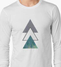 Oil spill Triangles Long Sleeve T-Shirt