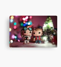 Christmas with Marty and Doc Canvas Print