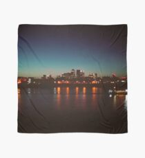 Canary wharf at night Scarf