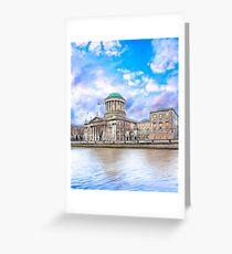 Irish Four Courts In Historic Dublin Ireland Greeting Card