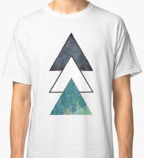 Oil spill Galaxy Triangles Classic T-Shirt