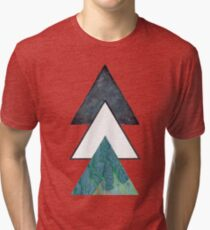 Oil spill Galaxy Triangles Tri-blend T-Shirt