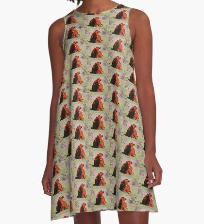 Sitzung! A-Linien Kleid