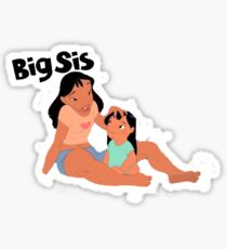 Lilo and Stitch Big Sister Sticker