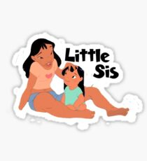 Lilo and Stitch Little Sister Sticker