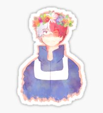 todoroki shouto flower crown Sticker
