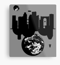 A Metro and a Colony Metal Print
