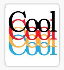 """COOL"" Primary Colours Sticker Sticker"