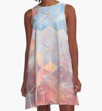 Magic Sky Cubes A-Line Dress