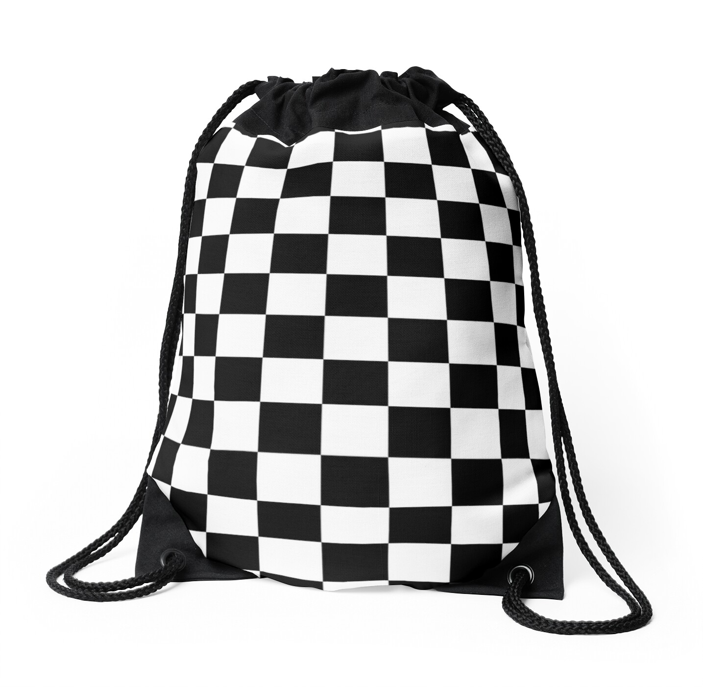 Black and White Check Checkered Flag Motorsports Race Day   Chess ...