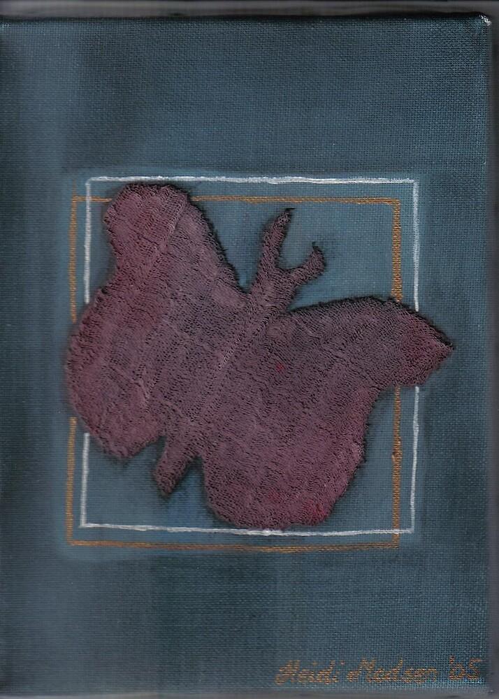 """""""butterfly"""" cloth, acrylic on canvas by heidihodk"""