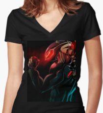 Black Manta T-Shirt Women's Fitted V-Neck T-Shirt