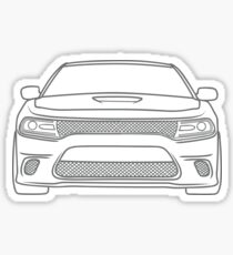 simple line charger Sticker