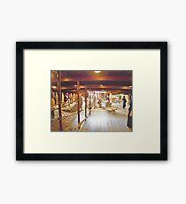 Below Decks Framed Print