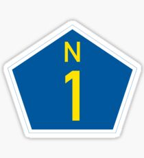 South Africa National Route N1 Marker  Sticker