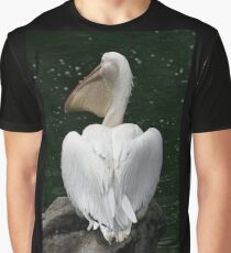 Great White Pelican Graphic T-Shirt