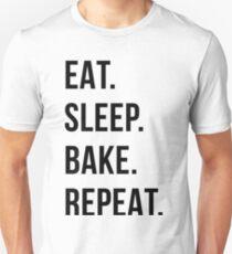 eat sleep bake repeat T-Shirt