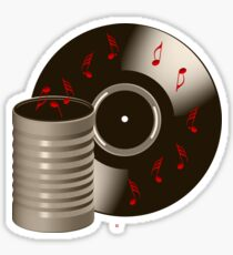 Playing Canned Music Sticker