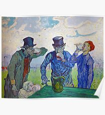 The Drinkers by Vincent van Gogh (1890) Poster