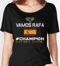 Champion of Roland Garros 2017 Rafa Nadal Women's Relaxed Fit T-Shirt