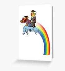 ErnieBertDolphin Greeting Card