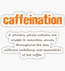 Caffeination Sticker