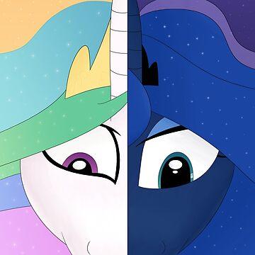 My Little Pony (Princess Celestia and Luna) - The Princesses of Day and Night  by DarkSatanicorn