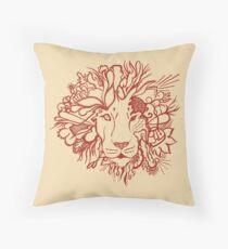Lion_aroon Throw Pillow