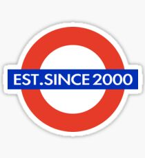 UNDERGROUND EST.SINCE 2000 Sticker