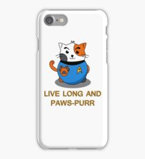 LIVE LONG AND PAWS-PURR iPhone Case/Skin
