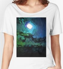 Little White Moon on the Black Sea Women's Relaxed Fit T-Shirt