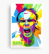 Rafael Nadal Art Canvas Print