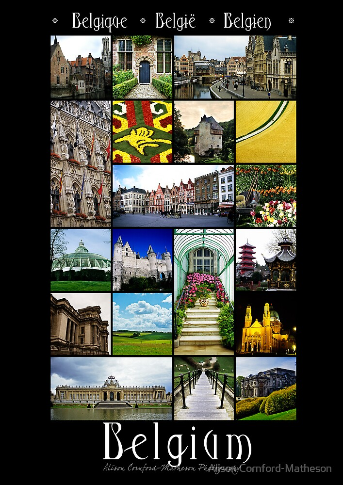 Belgium Collage by Alison Cornford-Matheson