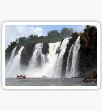 Iguazu Falls and boats, Argentina Sticker