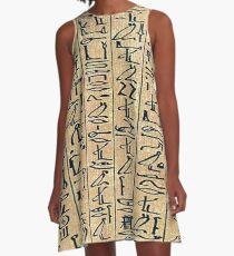 Egyptian Hieroglyph Dress - Egypt Skirt A-Line Dress