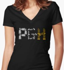 PGH - City of Champions Graphic Women's Fitted V-Neck T-Shirt