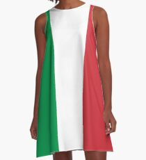 Italienisches Flag Mini Rock Kleid A-Linien Kleid
