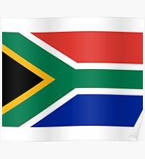 South African Springboks Flag Poster
