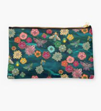 The Jewelled Garden - Turquoise Studio Pouch