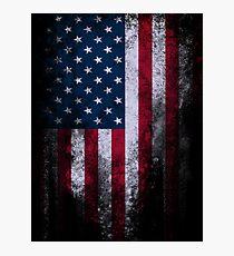 USA America Flag Photographic Print