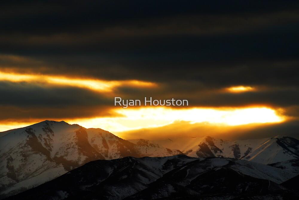Sunset - Winter Warmth  by Ryan Houston