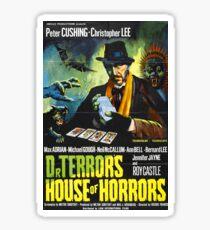 House of Horrors, doctor Terrors, vintage horror movie poster Sticker