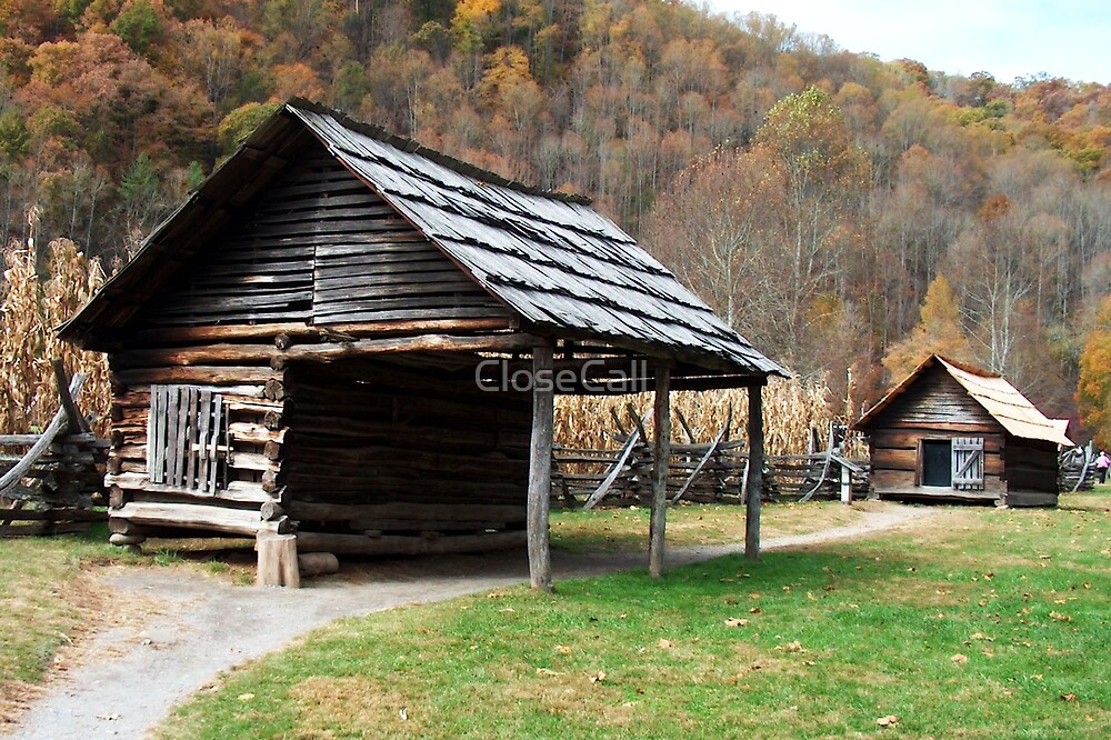 Pioneer Homestead in Great Smoky Mountains by Danny Close