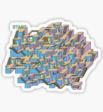 3d Cube Maze Sticker
